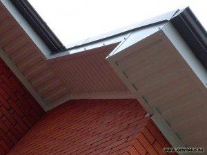 подшивка под крышей профлистом С8 белым