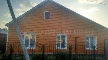 Металлический сайдинг евробрус цвет orange log