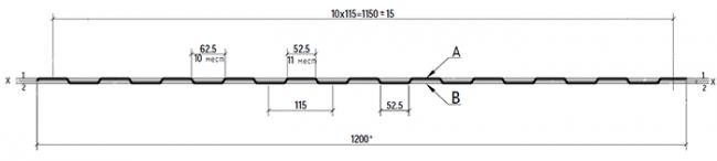 Профлист С8 размеры