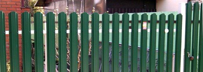 Евроштакетник зеленый фото