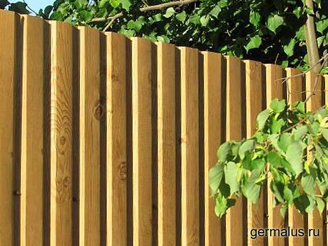 Фото забор из профнастила под дерево С20 А