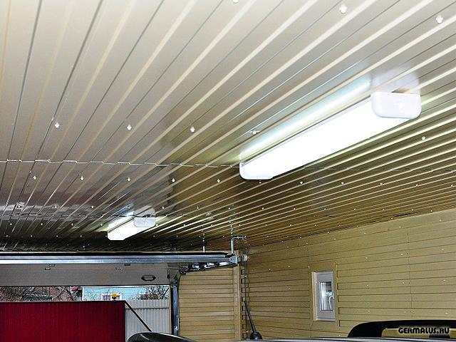 подшивка потолка профлистом С8