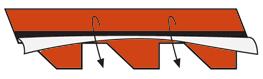Снятие защитной пленки с внутренней стороны листа
